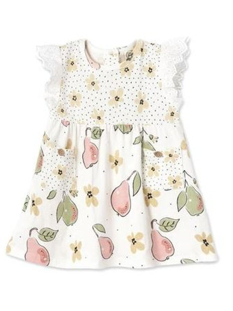 Tesa Babe Bloomin' Pears Eyelet Flutter Sleeve Dress