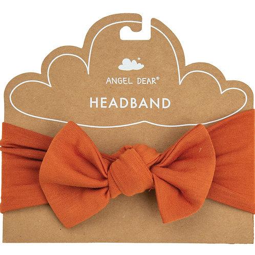 Angel Dear Solid Basic Rust Headband