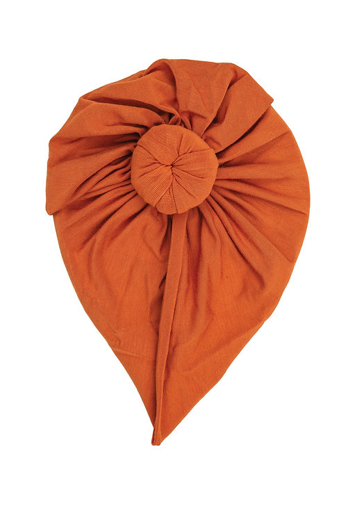 Angel Dear Solid Basic Rust Norma Headwrap