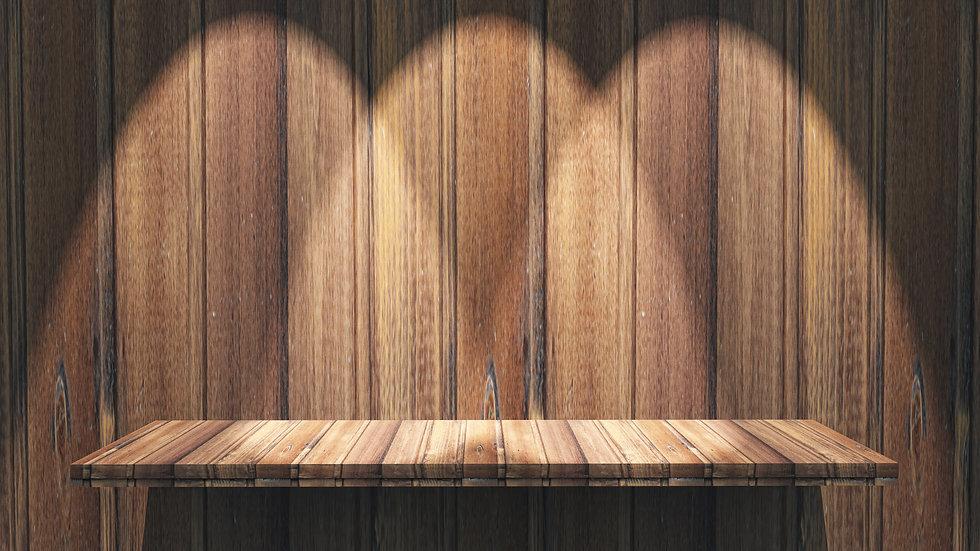 3d-wooden-shelf-with-spotlights-shining-