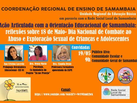 Reflexões sobre o 18 de Maio - Rede Social Local de Samambaia