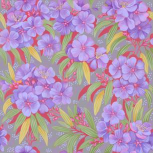 Tibouchina fabric design