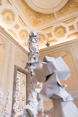 installation view at the Royal Palace of Caserta