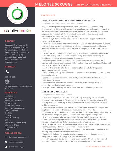 Melonee Scruggs Resume