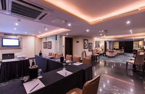 The Executive Lounge of the Palace Hotel where we provide our Gaming Courses in Malta