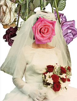 The bride with her flowers