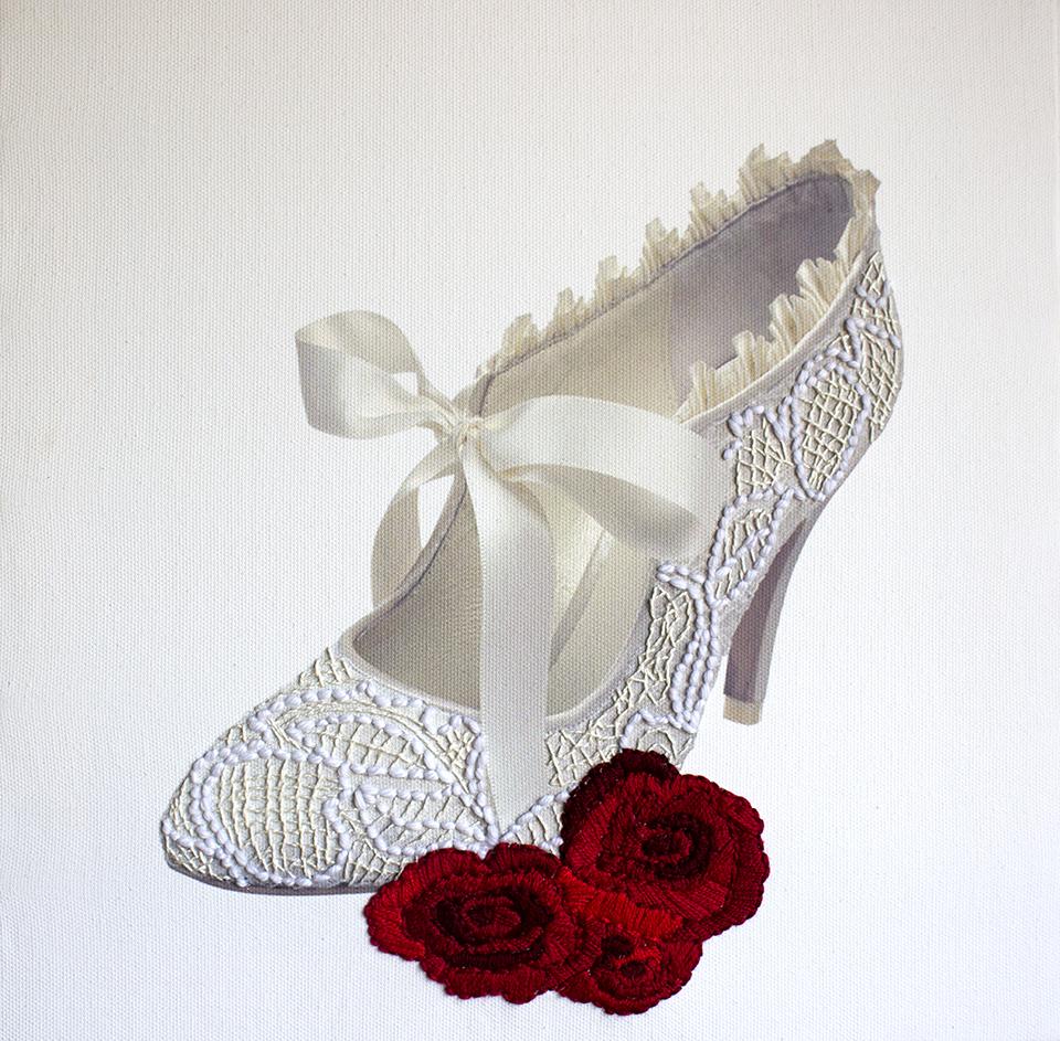 Clue Bride's shoe