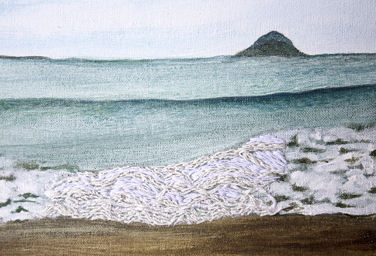 Waves are what I heard (detail 2)