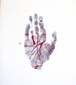 Clue Handprint