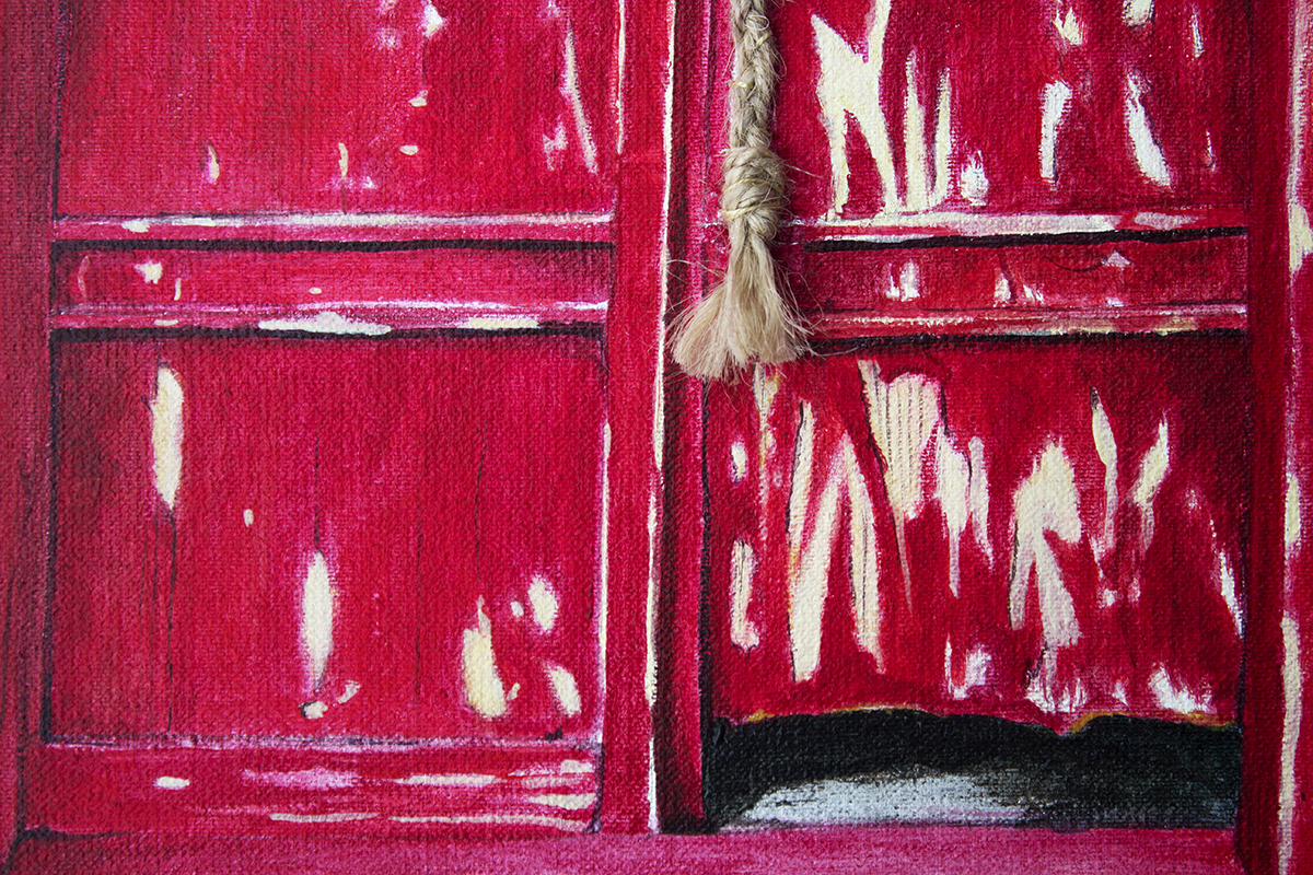 Red is what I saw (detail)