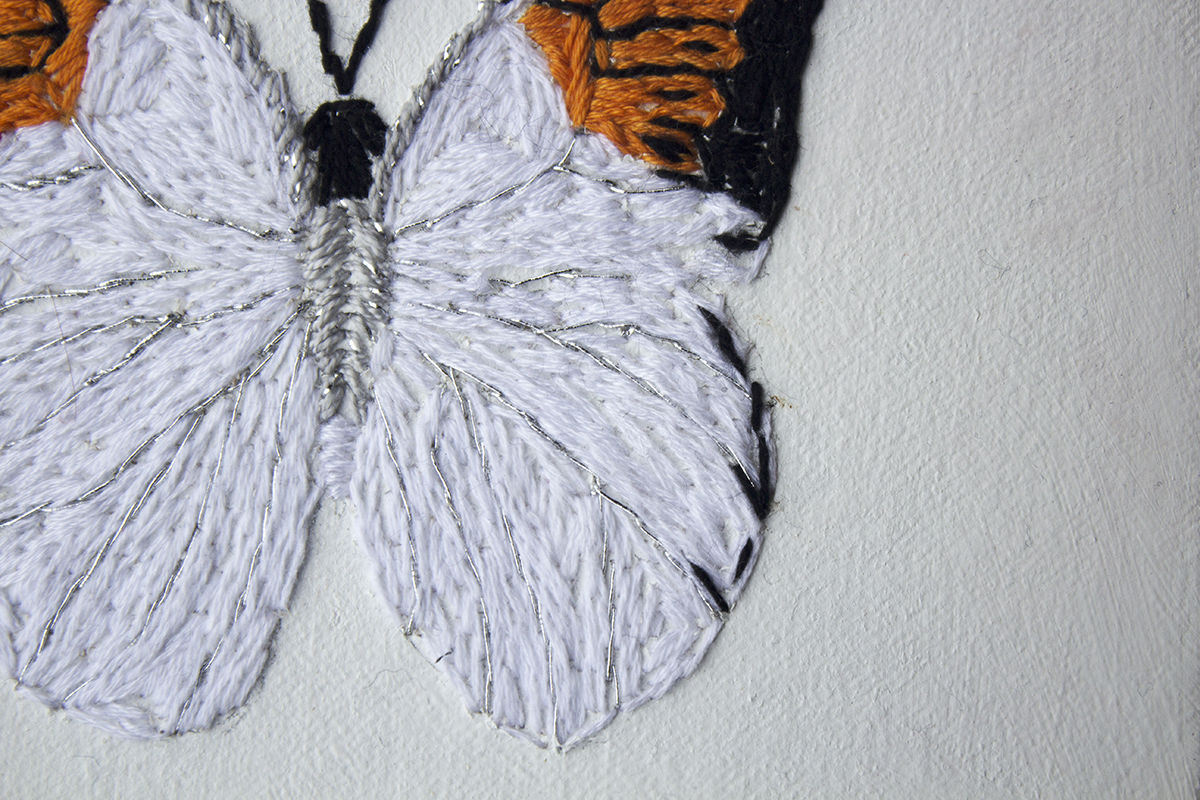 Butterflies flew around (detail)