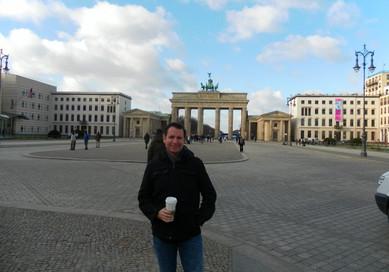 Coffee break in Berlin at the American Embassy. Brandenberg Tor is a favorite.