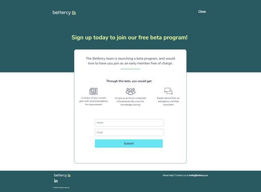 Bettercy Beta Invitation