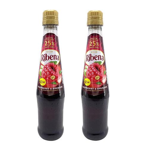 利賓納 - 英國製造原裝濃縮紅莓飲品 600ml x 2 (新口味)