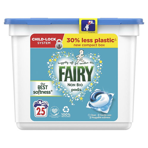 Fairy - 非生物洗衣球 25個 (適合敏感肌膚)