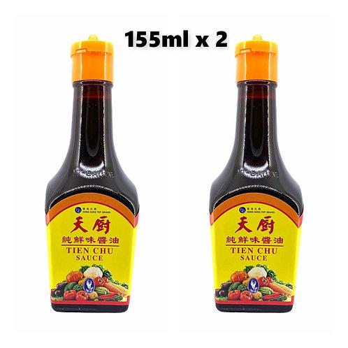 香港天廚 - 純鮮味醬油 - 155毫升 x 2支