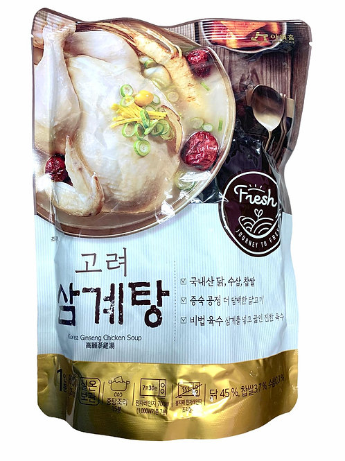 OurHome - 韓國OURHOME 高麗蔘雞湯包 800g (即食) 二人份量