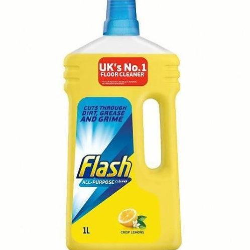 Flash - 多用途強力地板清潔液檸檬清香 1000ml