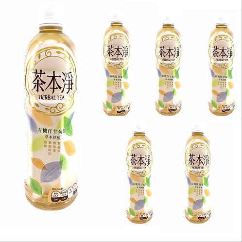 台灣 茶本淨 有機洋甘菊茶 580ml x6 (無糖)