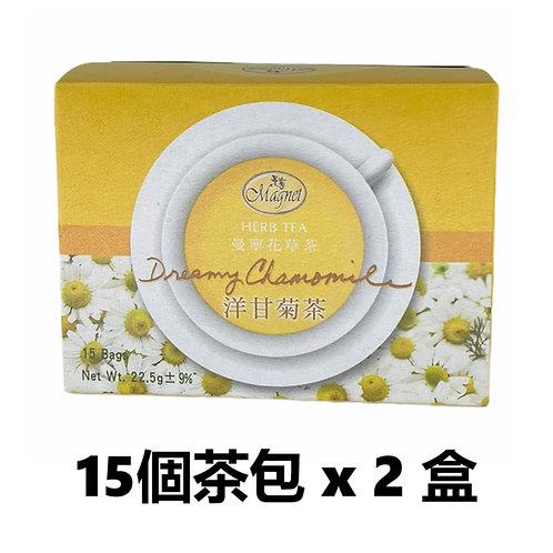 曼寧沉靜洋甘菊茶 1.5g x 15 個茶包 x 2 盒