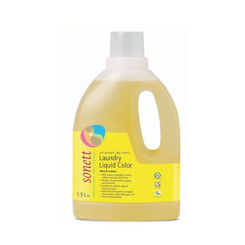 天然優品 - 環保薄荷檸檬護色洗衣液 (德國 Sonett) - 1.5公升