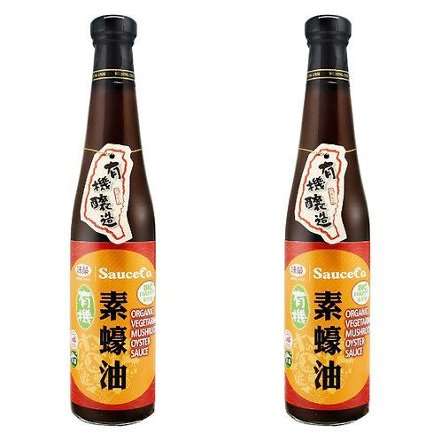 味榮 - 手工純釀 - 有機純素香菇素蠔油 420ml x 2