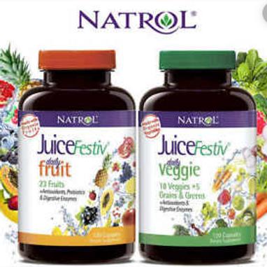 Natrol - 美國 Natrol 蔬菜水果維他命蔬果營養補充品 120 pcs + 120 pcs
