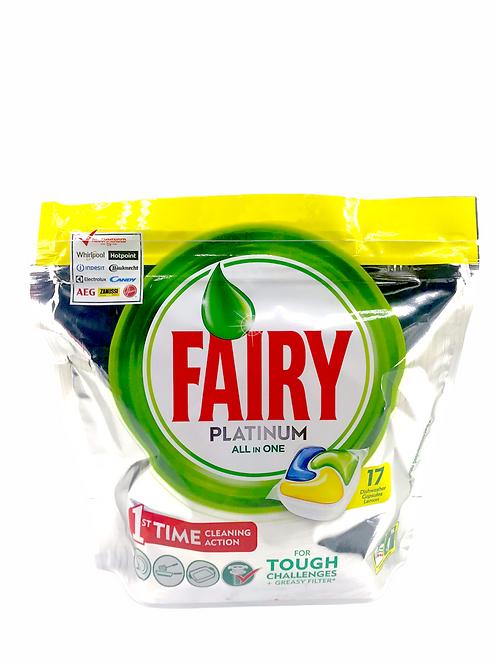 Fairy - 白金檸檬洗碗碟機強效洗碗碟球 17粒