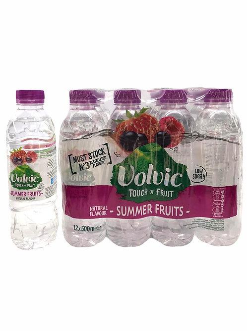Volvic - 法國天然「低糖」夏日水果味礦泉水 500ml x 12