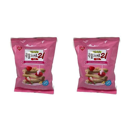 KEMY - 韓國人氣21穀物卷 – 草莓忌廉味 (獨立包裝) 150g x2