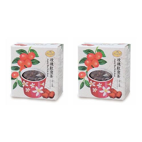 天然優品 - 曼寧玫瑰紅棗茶 3g - 15包 x 2