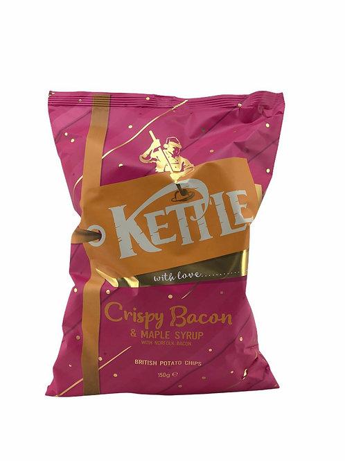 Kettle - 手製 諾福克脆皮煙肉楓糖漿手製薯片 150G (全新口味) 清貨優惠