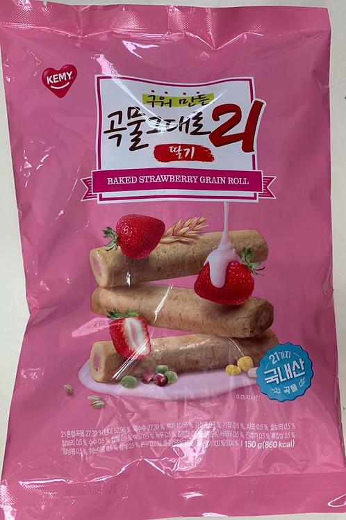 KEMY - 韓國人氣21穀物卷 – 草莓忌廉味 (獨立包裝) 150g