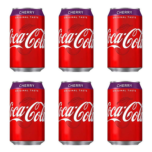 可口可樂 - 原味櫻桃可樂汽水 330ml x 6