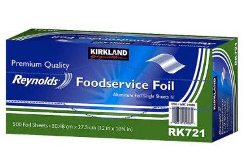 Kirkland Signature - 美國鋁箔紙錫紙 500 pcs (每一塊: 30.5 cm x 27.3cm)