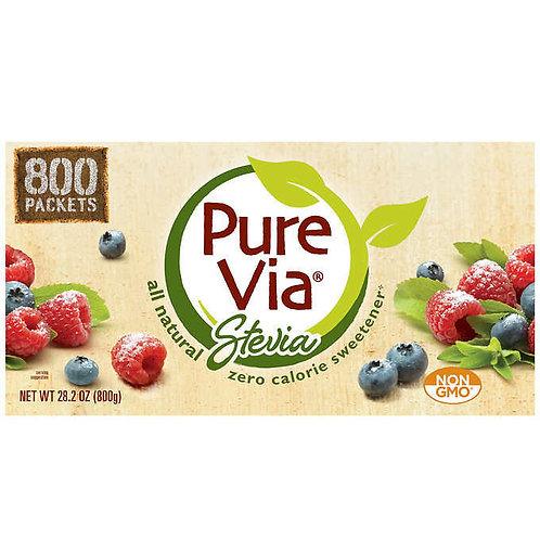 天然優品 - Pure Via 甜菊糖代糖 1g x 800包 零卡路里, 糖尿病患者, 低升糖, 減肥, 生酮最愛