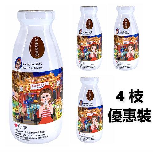 台灣直送 HoHo姐 珍珠厚奶茶 290ml x4樽