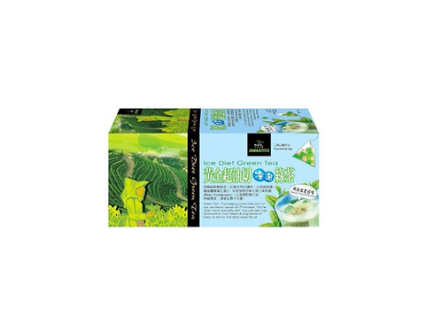 阿華師 - 黃金超油切冷泡綠茶 (4g x 18入/盒) 三角立體茶包