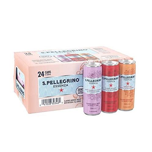 San Pellegrino - 意大利有氣礦泉水330ml x 24(3種口味)