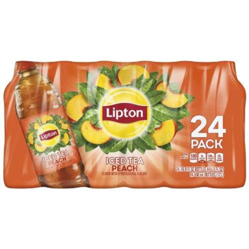 立頓 - 桃味紅茶 500ml x 24