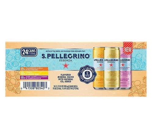 San Pellegrino - 意大利有氣礦泉水(多種味道) 340 ml x 24 瓶
