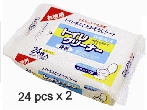日本製 Life-do Plus 廁板座廁專用殺菌消毒濕紙巾 24枚入 x 2 (平行進口)