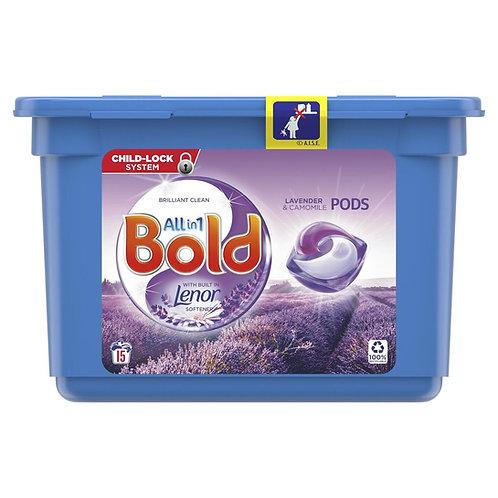 P&G - Bold 2合1洗衣球15個 - 薰衣草洋甘菊清香