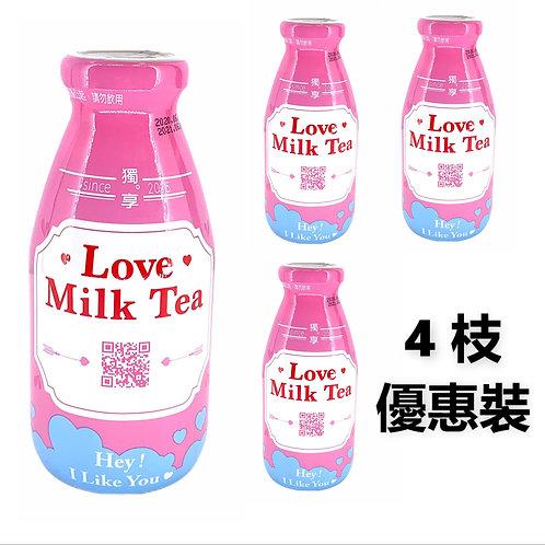 台灣直送 - 獨享 告白奶茶 290ml x4樽