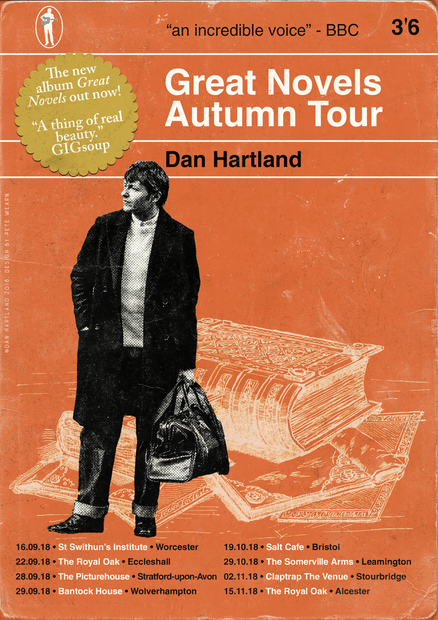 Dan Hartland Great Novels Tour Poster #2
