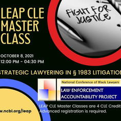 LEAP CLE MASTER CLASS   10/08/21