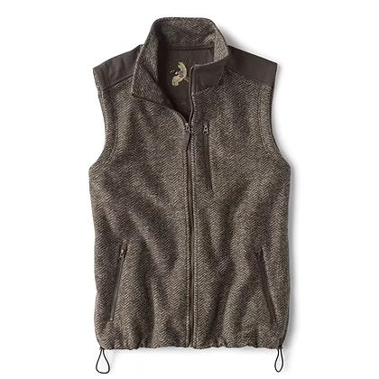 Orvis Waxed Cotton Trimmed Fleece Vest