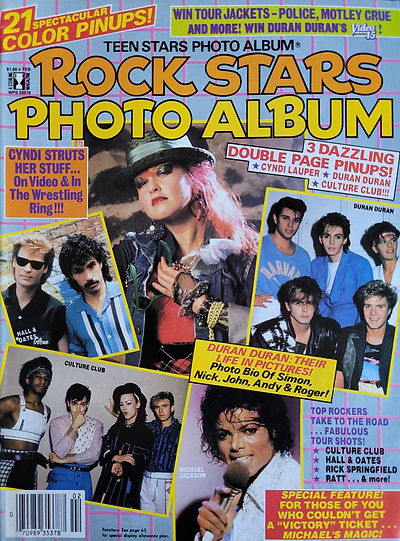 Rock Stars Photo Album Feb 1985 America.