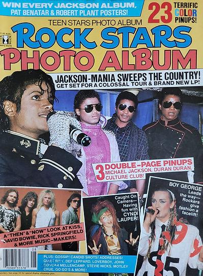 Rock Stars Photo Album Aug 1984 America.