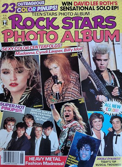 Rock stars Photo Album June 1985 America